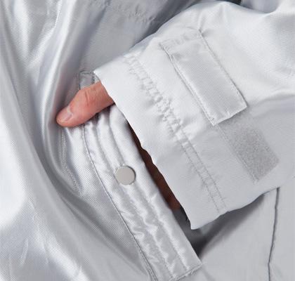 メタリックベンチコート,袖,ポケット